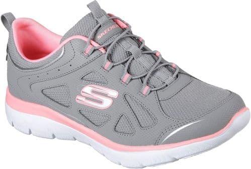 Skechers Summits Built In Ladies Sports Grey / Pink